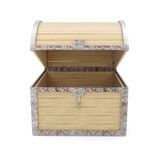Open empty wooden chest Royalty Free Stock Image
