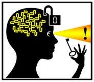 Open en activeer uw hersenen stock illustratie