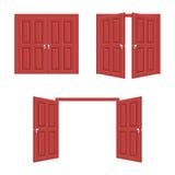 Open en dichte deur royalty-vrije illustratie