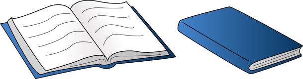 Open en gesloten boek Stock Afbeeldingen