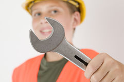 Open end wrench in focus Stock Photography