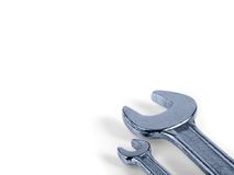 Open-ended spanner. In white background royalty free stock photos