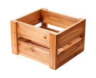 Open Ended Wooden Crate Royalty Free Stock Image