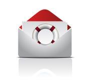 Open Envelop met de illustratieontwerp van de Reddingsboei Royalty-vrije Stock Fotografie