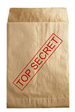 Open envelope. Open rude envelope for document Stock Photo
