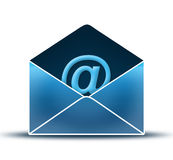 Open envelope. With Mail Icons & shadow royalty free illustration