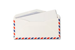 Open Envelope by air mail and paper royalty free stock images