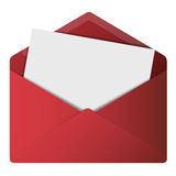 Open Envelope. With black paper inside Royalty Free Stock Photos