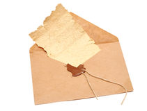 Open envelope with a broken seal Stock Photography