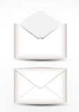 The open envelope and close envelope Royalty Free Stock Photography
