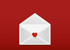 Open envelope with departing red hearts. Valentine`s Day. Love Royalty Free Stock Image