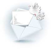 Open envelope and  dove Royalty Free Stock Photos
