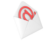 Open envelope with e-mail sign Stock Image