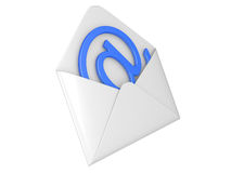 Open envelope with e-mail sign Royalty Free Stock Images