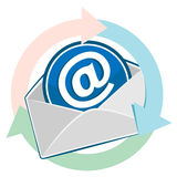 Open envelope. Email design Royalty Free Stock Image