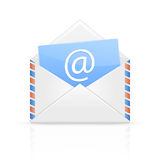 Open envelope with email Stock Images