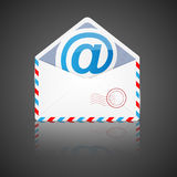Open envelope with email. Vector illustration. Stock Photos