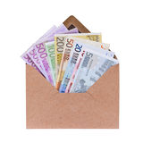 Open envelope with euro banknotes Royalty Free Stock Photos