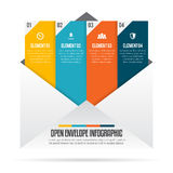 Open Envelope Infographic Royalty Free Stock Photo