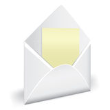 Open envelope with letter Royalty Free Stock Images