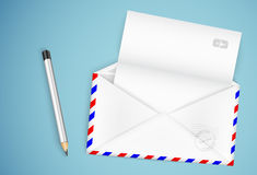 Open envelope Stock Photos