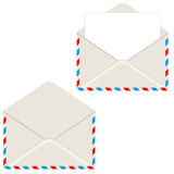 Open envelope with letter. Vector illustration. Element for design Royalty Free Stock Photo