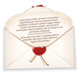 Open Envelope with a Letter. Vector. Image Design Royalty Free Stock Photography