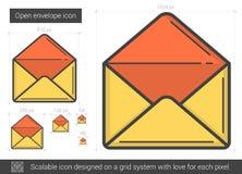 Open envelope line icon. Stock Photos