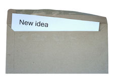 Open envelope with new idea word Stock Photography