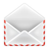 Open envelope object front view isolated Royalty Free Stock Photo