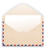 Open envelope with pape Royalty Free Stock Image