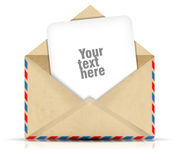 Open envelope with paper Royalty Free Stock Image