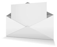Open envelope. White open envelope with paper Royalty Free Stock Image