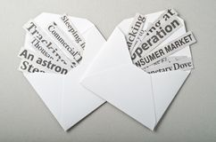 Open Envelopes with News Royalty Free Stock Photo
