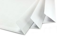 Open Envelopes large macro isolated Stock Photo