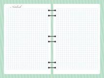 Open esquadrou o caderno do bloco de notas com a espiral Foto de Stock Royalty Free