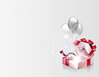 Open explore gift background Royalty Free Stock Photos