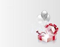 Open explore gift background Royalty Free Stock Photos