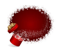 Open explore gift with fly stars Royalty Free Stock Image