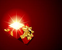 Open explore shiny gift Stock Image