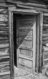 Open exterior door on old house Stock Images