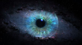 Open eye in space. Illustration Royalty Free Stock Photography