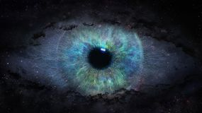Open eye in space. Illustration Royalty Free Stock Image