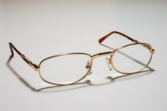 Open eyeglasses Royalty Free Stock Images