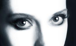 Open eyes closeup Stock Images
