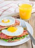 Open face sandwich Stock Images
