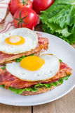 Open face sandwich Royalty Free Stock Photography