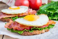 Open face sandwich Royalty Free Stock Photos