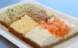 Open Face Sandwiches Stock Photography
