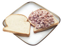 Open Face Tuna Salad Sandwich Stock Photography